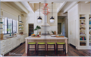 kitchen-cabinets-in-peachtree-city-ga-cream-kitchen-blush-island-lime-seat cushions